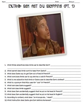 Sam Fait du Shopping (pt. 1) Questions for Discovery's Extr@! in French