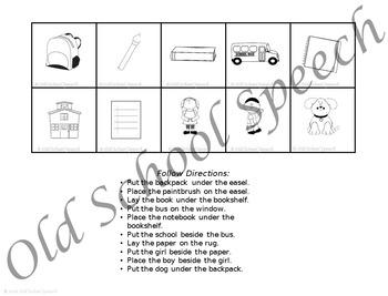 Sam Goes to School: Speech/Language Companion Packet