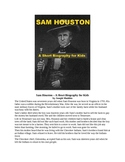 Sam Houston - A Short Biography for Kids