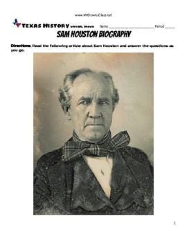 sam houston biography