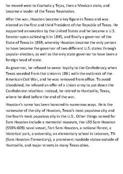 Sam Houston Handout