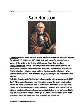 Sam Houston - Texas Hero - Full Life Story - History Facts
