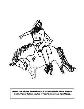 Sam Houston coloring page