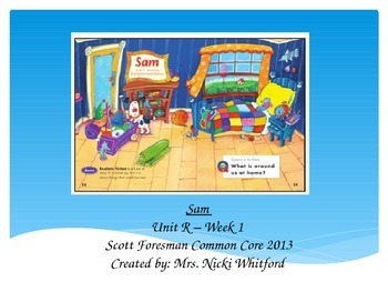 """Sam"" (Instructional Guide for Unit R, Week 1 Reading Street 2013)"