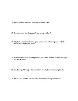 Sam Kean's THE VIOLINIST'S THUMB Book Questions