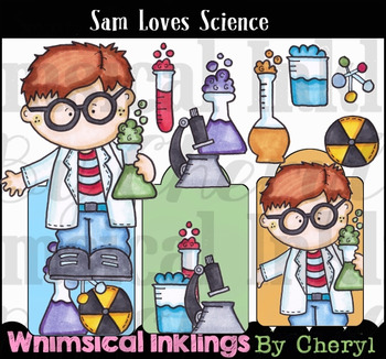 Sam Loves Science Clipart Collection