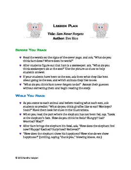 Sam Who Never Forgets. Complete Lesson Plan.