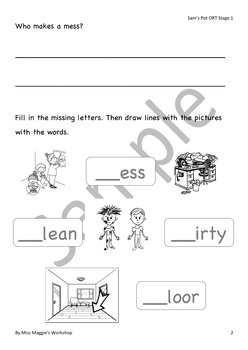 Sam S Pot Oxford Reading Tree Songbirds Phonics Stage 1 Reading Worksheets