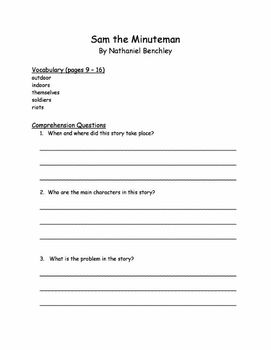 Sam the Minute Man Student Question Packet