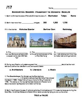 Samantha Brown- Passport to Europe Video Worksheet Bundle 1