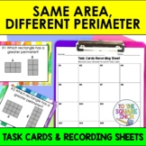 Same Area, Different Perimeter Task Cards