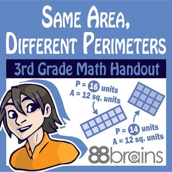 Same Area, Different Perimeters pgs. 28 - 30 (Common Core)