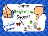 Same Beginning Sound