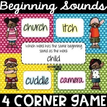 Same Beginning Sound 4 Corner Game - Beginning Sound Break Dance