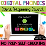 Same Beginning Sound Sound Tappers - Digital Phonics Learning {PowerPoint Games}