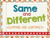 Same & Different:  A FUN PowerPoint Game To Teach Compare