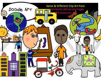 Same & Different Clipart Pack