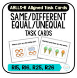Same/Different & Equal/Unequal Task Cards [ABLLS-R Aligned