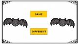 Same Different Halloween Bats