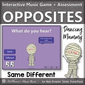 Halloween Music: Same Different Interactive Music Game {Dancing Mummy}