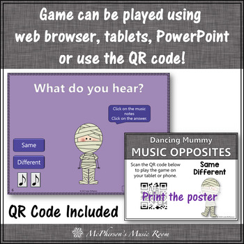 Halloween Music: Same Different Interactive Music Game {Dancing Mummy}