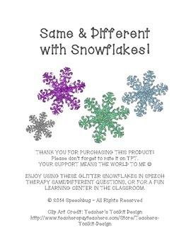Same & Different Snowflakes!