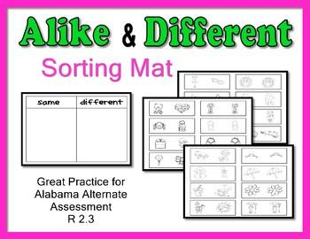 Same Different Sorting Mat    Like Different Sorting Mat