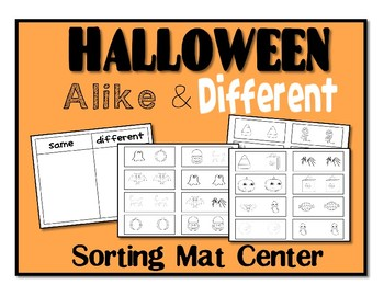 Halloween Same Different Sorting Mat    Center
