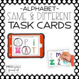 Same & Different Task Cards {Alphabet}