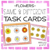 Same & Different Task Cards {Spring Flowers}
