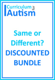 Same Different Attributes Basic Concepts BUNDLE Autism Speech