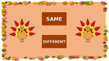 Same Different Turkeys