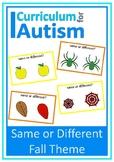 Same Different Visual Discrimination Fall Theme, Autism, S