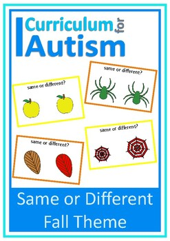 Same Different Visual Discrimination Fall Autism Special Education