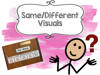 Same / Different Visuals for students with Autism or Special Education