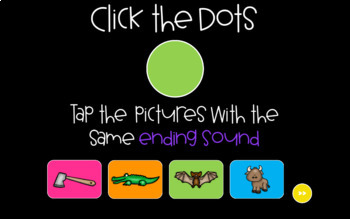 Same Ending Sounds Sound Tappers - Digital Phonics Learning {PowerPoint Games}