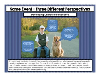 Same Event - Three Different Perspectives