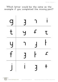 Same Letter-Missing Part