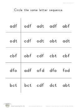 Same Letter Sequence