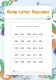 Same Letter Sequence (Visual Discrimination Worksheets)