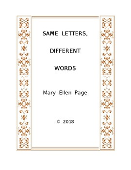 Same Letters,  Different Words