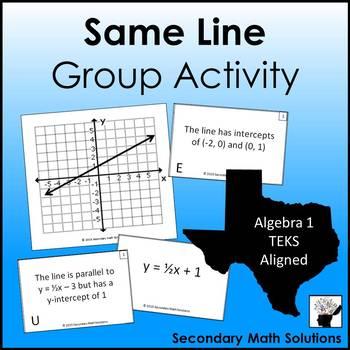 Linear Equations Activity (A3C, A2C, A2E, A2F)
