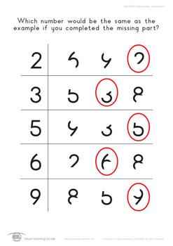 Same Number-Missing Part