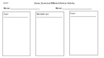 Same, Same but Different Partner Activity