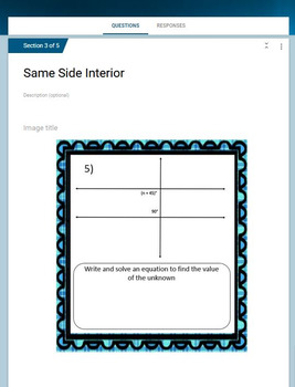 Same Side Interior Angles   Google Form U0026 Video Lesson With Notes!