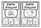 Same Sound Initial Sound Clip Cards