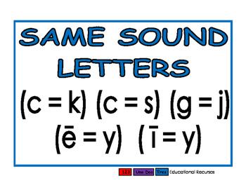Same Sound Letters blue