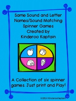 Same Sound and Letter Name/Sound Spinner Games