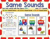 Same Sounds - Isolate Initial, Middle, and Final Sounds!