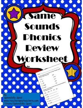 Same Sounds Phonics Review